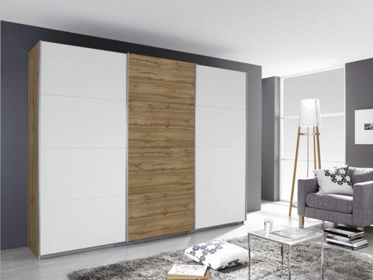 Dulap Dressing Kulmbach pentru dormitor realizat din pal mat sau lucios, cu usi din sticla vopsita sau oglinda