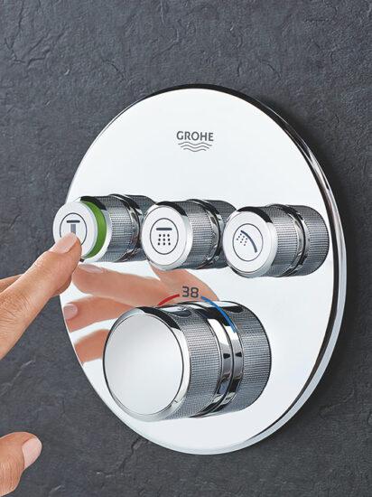 baterie de dus Grohe cu termostat